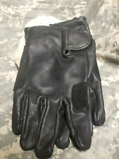U.S MILITARY Mens & Womens Light Duty Utility LEATHER GLOVES Sz LARGE Unwrapped