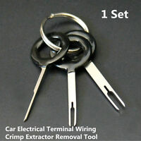 3Pcs/Set Car Crimp Release Pin Extractor Connector Wiring Terminal Removal Tool