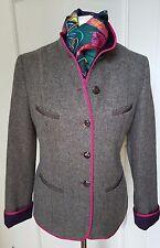 UNÜTZER+Janker+Blazer+grau mit dunkelblau/pink+Wolle+Gr.XL/40/42+NEU!! NP820€