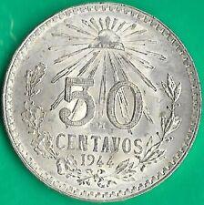Mexico.1944.50 Centavos.Silver.UNC