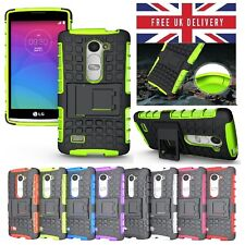 LG Leon Case - Shockproof Rugged Bumper Tough Hybrid Armor Stand Case Cover
