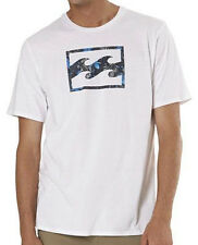 "NEW + TAG BILLABONG MENS (M) ""SUPER WAVE"" SURF T-SHIRT TEE WHITE REGULAR FIT"