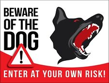 BEWARE of DOG House Home Warning Property Metal Wall Garage Shed Garden UK Sign