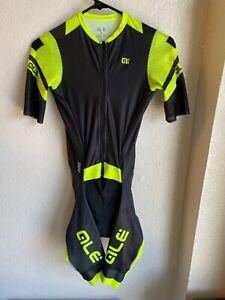 Alé Cycling R-EV1 Skinsuit - Black/Fluo Yellow - Men's Medium