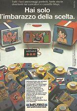 X0658 Caricatori e cassette MUPI - Pubblicità del 1980 - Vintage advertising