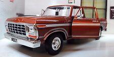 G 1:24 Scale Ford F150 Custom 1979 Pickup Truck Diecast Model Motormax 79346 Red