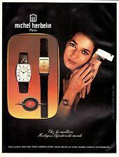 PUBLICITE  MONTRE MICHEL HERBELIN   WATCH    AD  1977