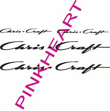 "Chris Craft decal pair chriscraft sticker decals 36"" x 4"" Boat Logo 3 Decals USA"