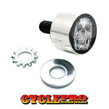 Tall Silver Billet Seat Bolt 96-UP Harley Touring CHROME SKULL - 050