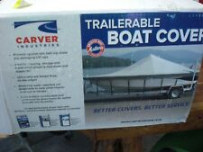 CARVER SEMI-CUSTOM BOAT COVER  #72020S01 20 TRIHULL W/WINDSHIELD SUNDURA GRAY