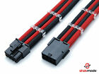 8pin Pci-E GPU Graphic Card Heatshrinkless Sleeved Power Supply Extension Cable