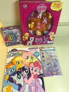 My Little Pony Kids Set - Stuck on Stories, Crayons, Stickers, Coloring Book