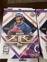 2020 Topps Fire Baseball Hanger Box FACTORY SEALED Red Blaze Exclusive, 20 Cards