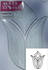 "STYLIZED TULIP Bevel Cluster 4-7/8"" x 6-1/8"" Clear Faceted Stained Glass Supply"