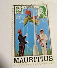 MAURITIUS Sc #462 Θ used, QEII & Flag unfurling, postage stamp, Fine +