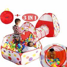Spielzelt + Ball Pit + Tunnel + Tasche Kinderzelt Bällebad Spielhaus Iglu Baby !