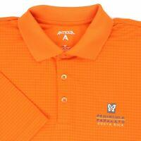"Antigua Men Medium 45"" Peninsula Papagayo Costa Rica Golf Polo Shirt Orange Poly"