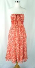 NWT MaxandCleo 100% Silk Coral Pink Sleeveless Summer Maxi Dress Size 6 Lined