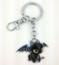 How to Train Your Dragon the Film Night Fury Toothless Metal Key Chain Ring New