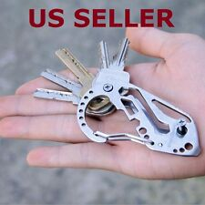 US SHIP Multifunction Quickdraw Tool EDC Stainless Carabiner Guard Keychain Key