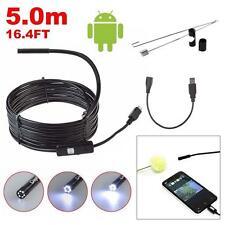 16.4FT HD USB Waterproof Inspection Tube Snake Camera Endoscop Borescope 6LED TR