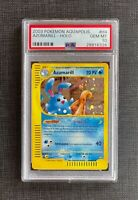 Pokemon Error PSA 10 Azumarill Holo Aquapolis Italian #H4/H32 Gem Mint