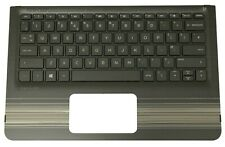 New HP Pavilion x360 11-U Black Palmrest Cover UK QWERTY Keyboard 856175-031
