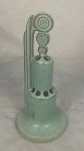 Roseville Ohio Art Pottery Moderne Art Deco Flower Frog