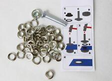 40 Ösen mit  Scheiben 5mm silberfarben inkl. Einschlagwerkzeug Lochwerkzeug