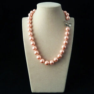 Natural 12mm Genuine MultiColor South Sea Shell Pearl Round Beads Necklace 18''