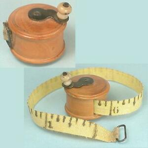 Antique Carved Boxwood Tape Measure * English * Circa 1870s