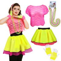 Ladies 80's TUTU DISCO fancy dress Costume NEON TUTU & Skirts UK ALL SIZES
