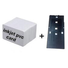 CSF 10pcs Inkjet PVC Printable Cards + 2pcs Inkjet Trays for Epson R200 Printer