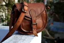 Vintage Handmade Genuine Leather Women Messenger Shoulder Bag Crossbody Bags