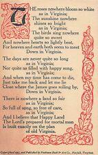 Postcard Poem Virginia