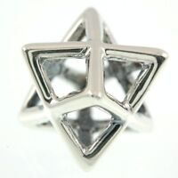 Star Of David Pendant With Chain Sterling Silver 925 #3