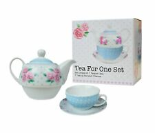 Tea For One Set 3pcs Porcelain Party Tableware Mugs Saucer Tea Pot Stacked Cup