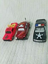 3 EMERGENCY/SHERIFF DIE CAST VEHICLES;  VHTF UNIQUE CARS FROM THE 1990s