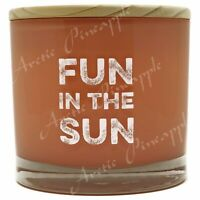 Scentsational Soy Blend 26oz Cotton 3 Wick Candle FUN IN THE SUN- ISLAND RETREAT