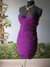 Walter Baker Purple Cocktail Strapless Pleated Dress Size M NWT MSRP $118