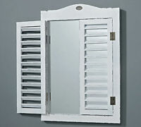 Wall Mirror White Shutters Fjord 50x35cm Mirror Wood Cottage Window