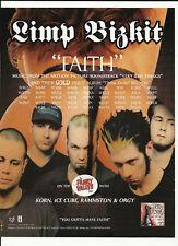 LIMP BIZKIT Faith Trade Ad POSTER for Three Dollar CD
