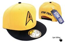 OFFICIAL YELLOW STAR TREK STARFLEET COMMAND YELLOW SNAPBACK CAP HAT (BRAND NEW)