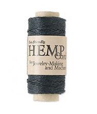 100ft Roll BLack Natural Hemp Cord .5MM