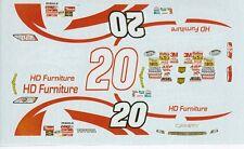 #20 Z-Line Designs 2008 Kyle Busch 1/25th - 1/24th Scale WATERSLIDE DECALS