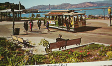 '60 Postcard SAN FRANCISCO MARITIME STATE HISTORICAL PARK POSTCARD OLD CABLE CAR