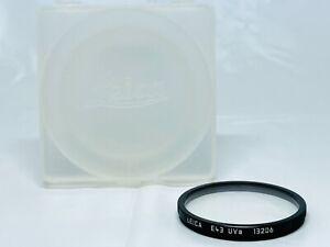 Super Rare!! [TOP MINT *THIN MODEL] LEICA E43 UVa Filter 13206 Black From JAPAN