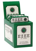 EZEE GREEN PAPERS 20 X BOOKLETS OF 50 PAPERS !! FREE DELIVERY !! 1000 PAPERS