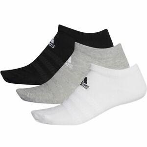 3 Paar adidas no show socks Sneaker Socken Low Cut 3PP weiß/grau/schwarz invisib