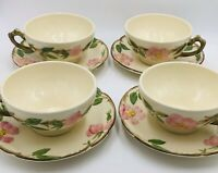 "Franciscan ""DESERT ROSE"" Cup And Saucer Made In California Set of 4"